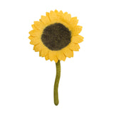 Fair Trade Felt Sunflower, yellow: Handmade in Nepal trafficked women Global Goods Partners bouquet