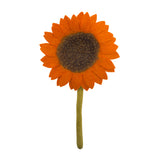 Fair Trade Felt Sunflower, orange: Handmade in Nepal trafficked women Global Goods Partners bouquet