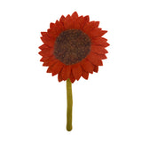 Fair Trade Felt Sunflower, persimmon: Handmade in Nepal trafficked women Global Goods Partners bouquet