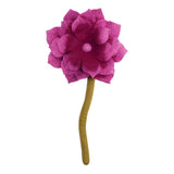 Fair Trade Felt Lotus Flower, pink: Handmade Nepal trafficked women Global Goods Partners bouquet
