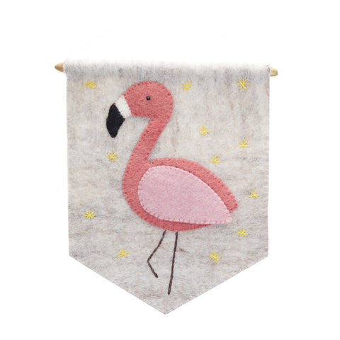 Kid's Flamingo Banner Flag