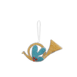 Beaded French Horn Ornament
