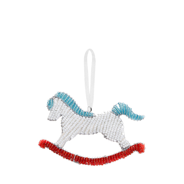 PRE-ORDER: Beaded Rocking Horse Ornament