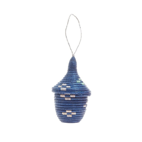 Rwandan Peace Ornament - Navy