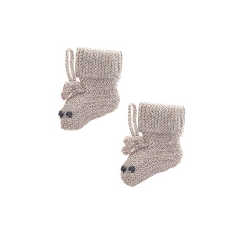 Alpaca Bear Baby Booties