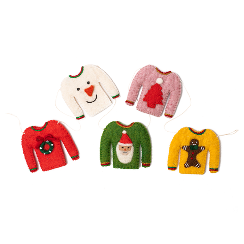 Felt Holiday Sweater Garland
