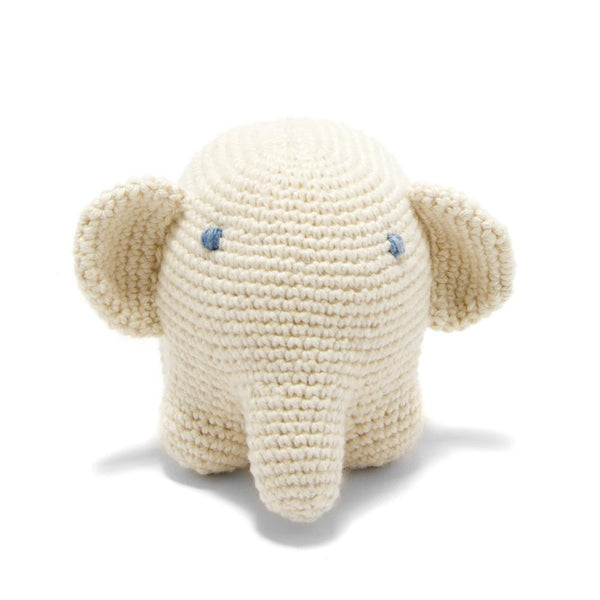 Organic Cotton Elephant Toy: Handmade in Peru Cuddle Toy Children Global Goods Partners women artisan handcrafts eco-friendly natural dye knit fair trade wholesale