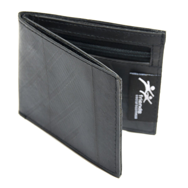 Recycled Tire Wallet For Men Handmade in Cambodia | Global Goods Partners Women Artisan Handcrafts Meaningful Gift Guys Unique Design wholesale