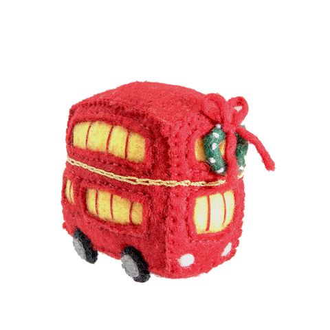 Felt Double Decker Bus Ornament