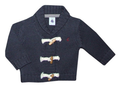 Petit Bateau Baby Boy Toggle Button Cardigan