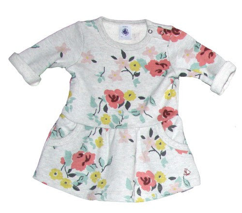Petit Bateau Baby Girl Multi Flower Print Dress