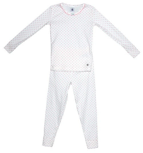 Petit Bateau Girl Loungewear Star Print Long Sleeve Top and Pant