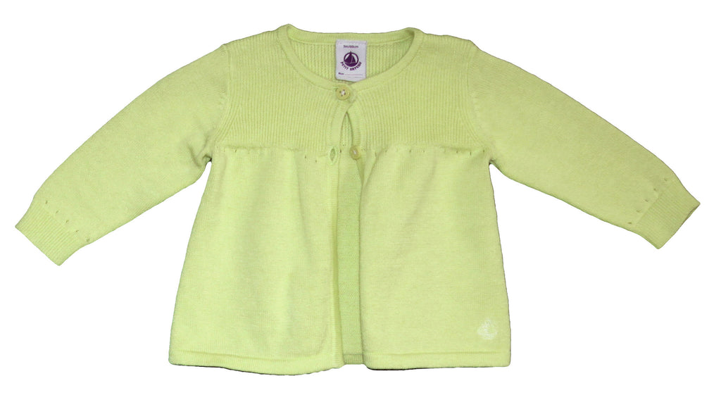 Petit Bateau Baby Girl Two Button Cardigan