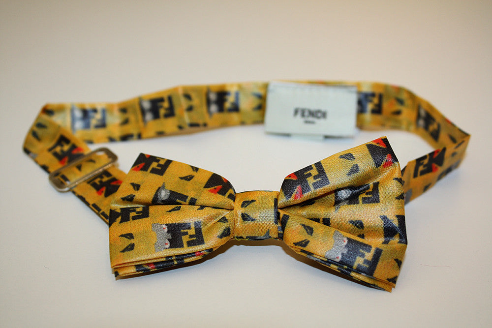 Fendi Bow Tie with Yellow Logo