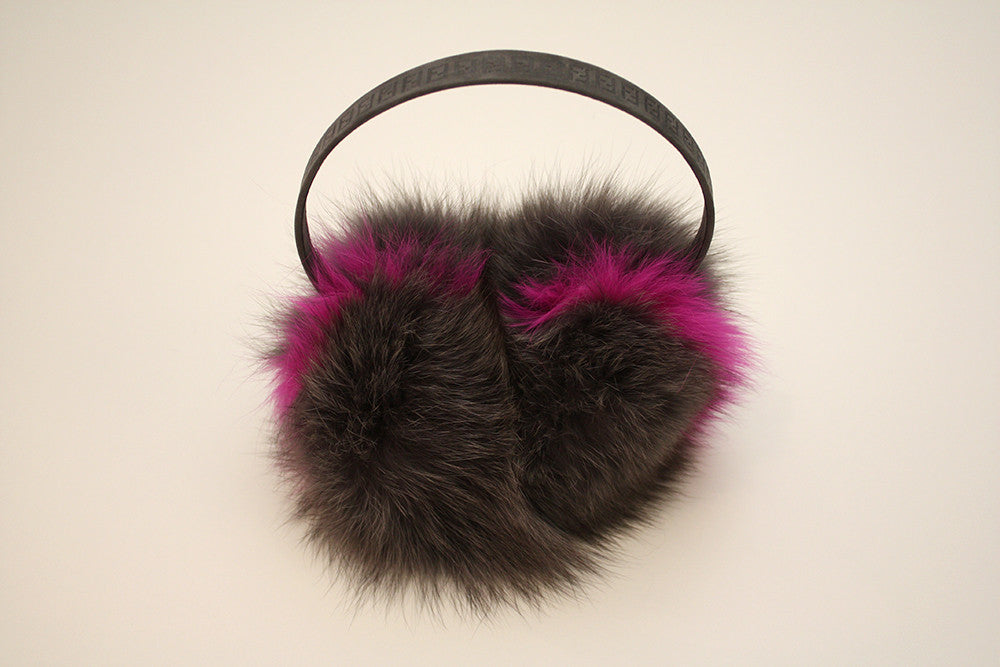 Fendi Grey and Pink Earmuffs