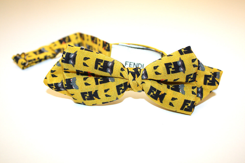 Fendi Yellow Bow Tie