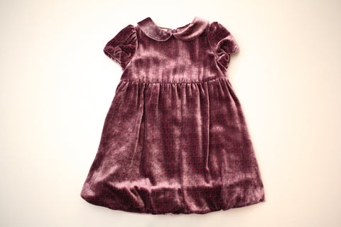 Fendi Baby Girl Dress with All Over Print Logo