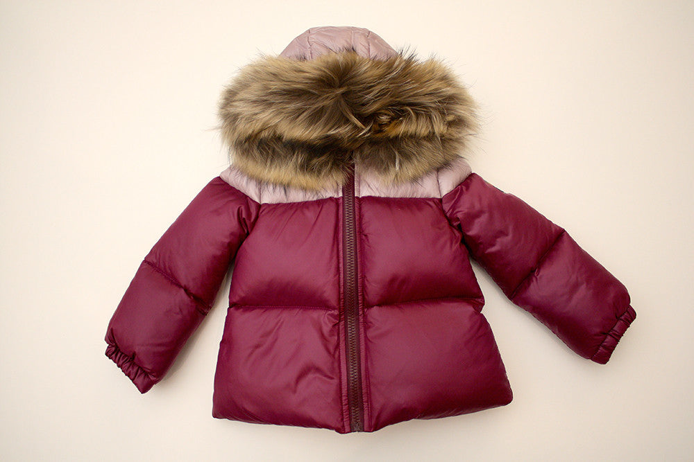 Fendi Baby Girl Jacket with Fur Hood