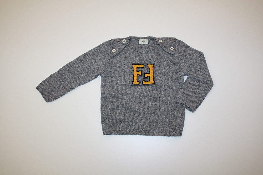 Fendi Baby Boy Sweater with Yellow Logo