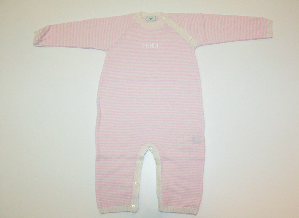 5ceeeae52c5a Fendi Pink Striped Onepiece – Couture Kids