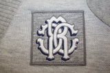 Roberto Cavalli Grey Cardigan with White Logo