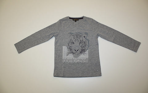 Roberto Cavalli Long Sleeve T with Tiger