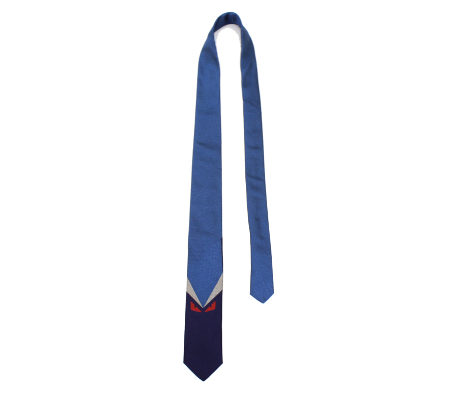 Fendi Tie With Monster/Blue