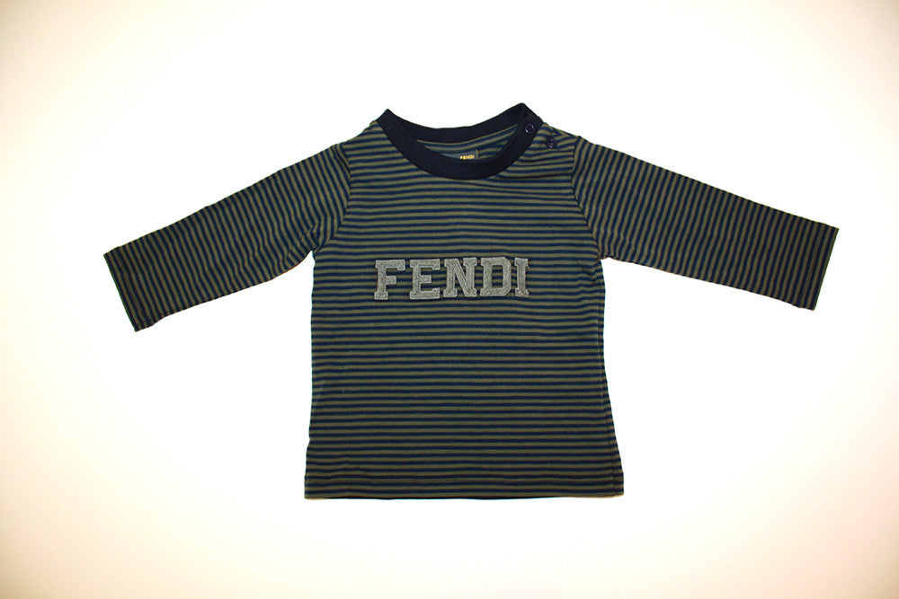 Fendi Striped Green and Blue Shirt