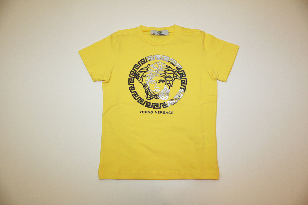 Young Versace Yellow Tee with Medusa Logo