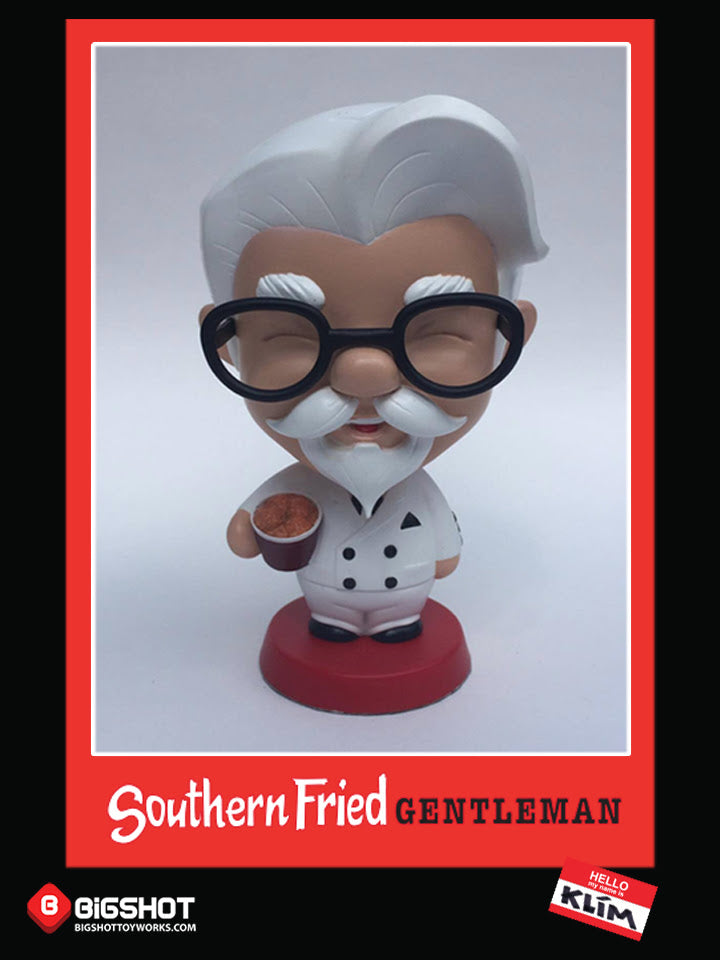 Our super chibi Southern Fried Gentleman figure designed by Klim and produced by Bigshot.