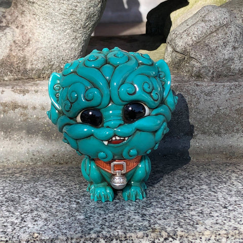 Shi-Shi the Tiny Guardian 4-inch Sofubi Vinyl Figure - Mystic Turquoise Edition