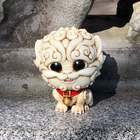 Shi-Shi the Tiny Guardian 4-inch Sofubi Vinyl Figure - Ancient Ivory Edition