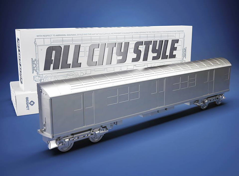 "All City Style Silver Train - Single 20"" half car model"