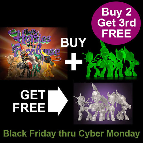 Four Horsies Gift Packs Black Friday SPECIAL - Buy 2, get third FREE