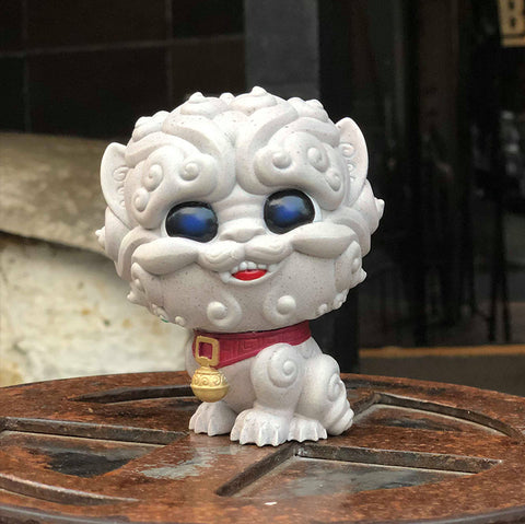 Shi-Shi the Tiny Guardian 4-inch Sofubi Vinyl Figure - Stone Edition