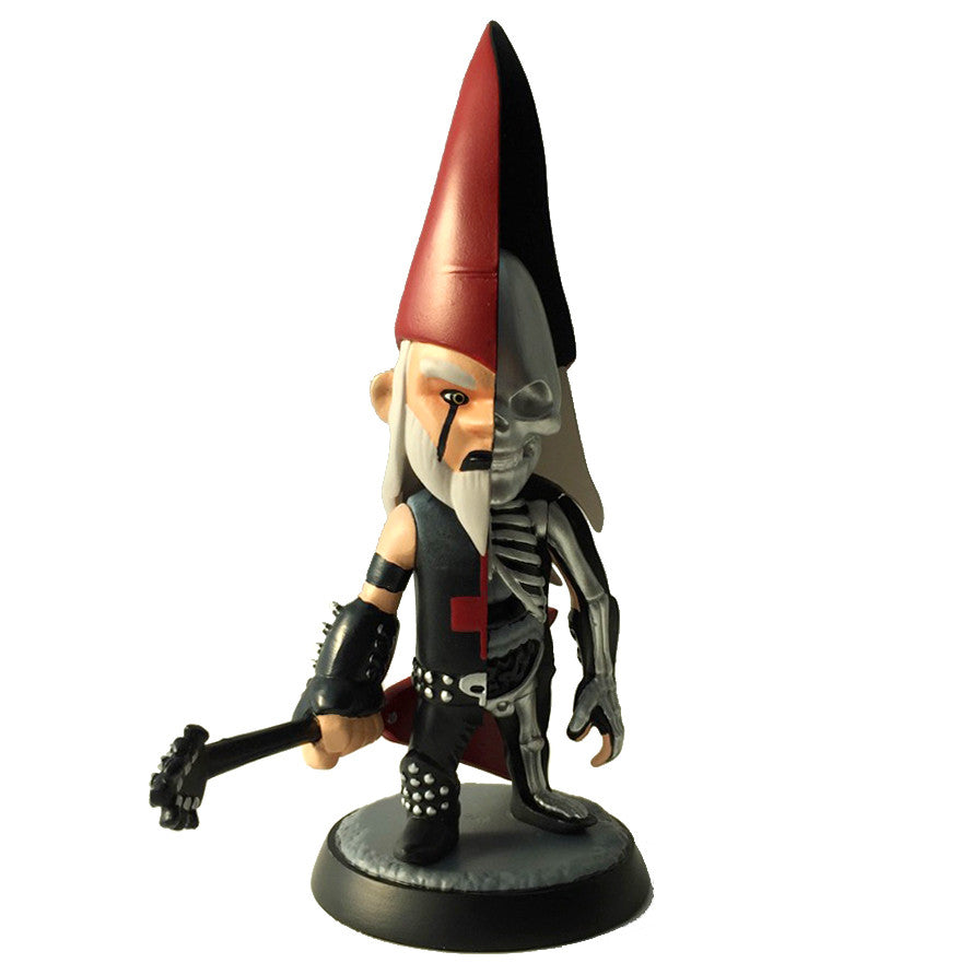 "Ragnar ""The Metal Gnome"" Hellstrummer Gnomeboys Anatomic BLACK DEATH EDITION by Bigshot x Jason Freeny"