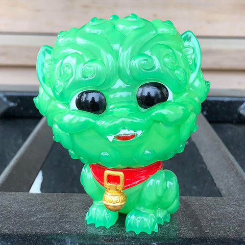 Shi-Shi the Tiny Guardian 4-inch Sofubi Vinyl Figure - Jade Edition