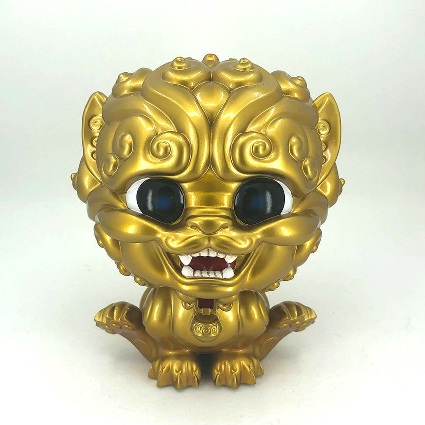 Shi-Shi the Tiny Guardian 6-inch Resin Statue - Gold Edition