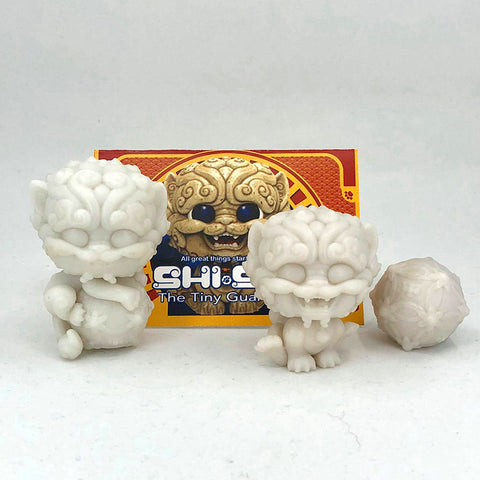 Shi-Shi the Tiny Guardian DIY Blank Mini Figure Set