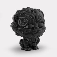 Shi-Shi the Tiny Guardian 4-inch Sofubi Vinyl Figure - Black Edition