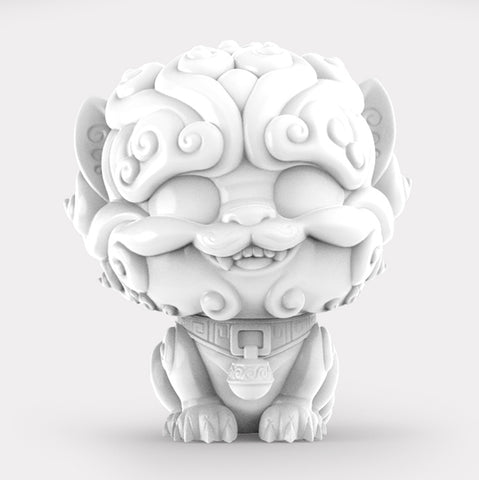 Shi-Shi the Tiny Guardian 4-inch Sofubi Vinyl Figure - White Edition