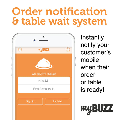 myBUZZ order notification and table wait system