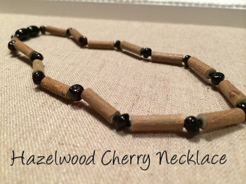 Hazelwood with Polished Cherry Baltic Amber