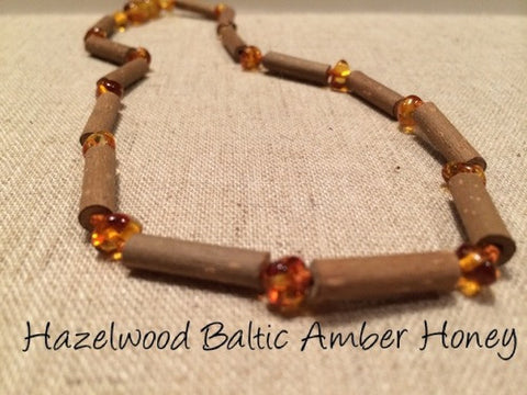 Hazelwood with Polished Honey Baltic Amber