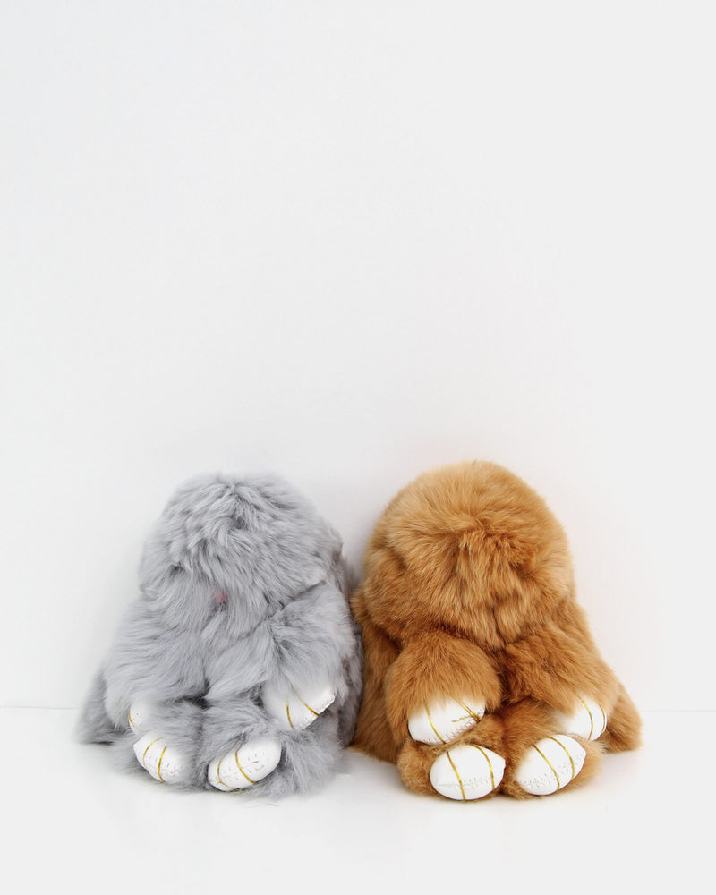 Faux Fur Bunny Keychain 2 Pack 4