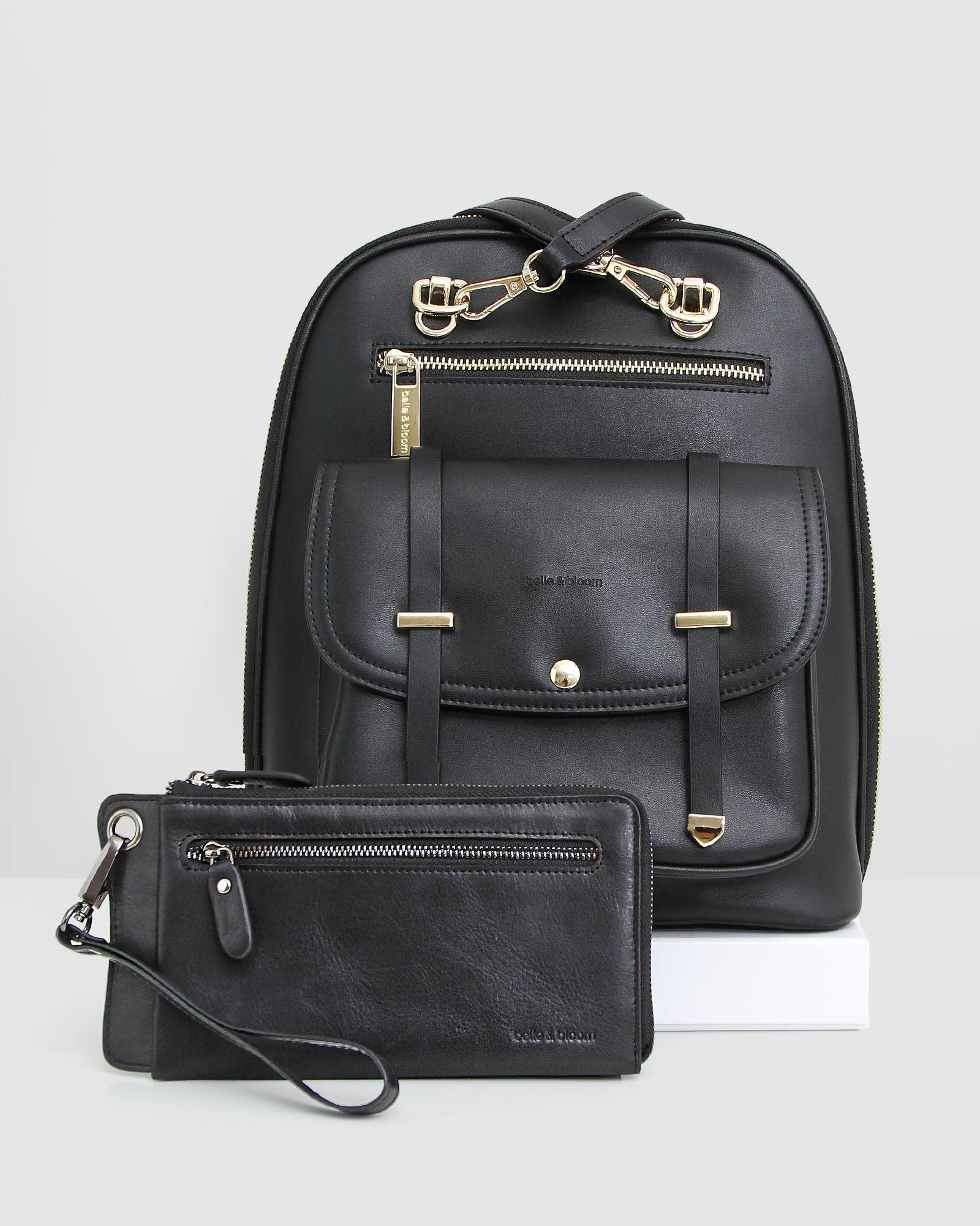 Backpack & Wallet Gift Pack - Black