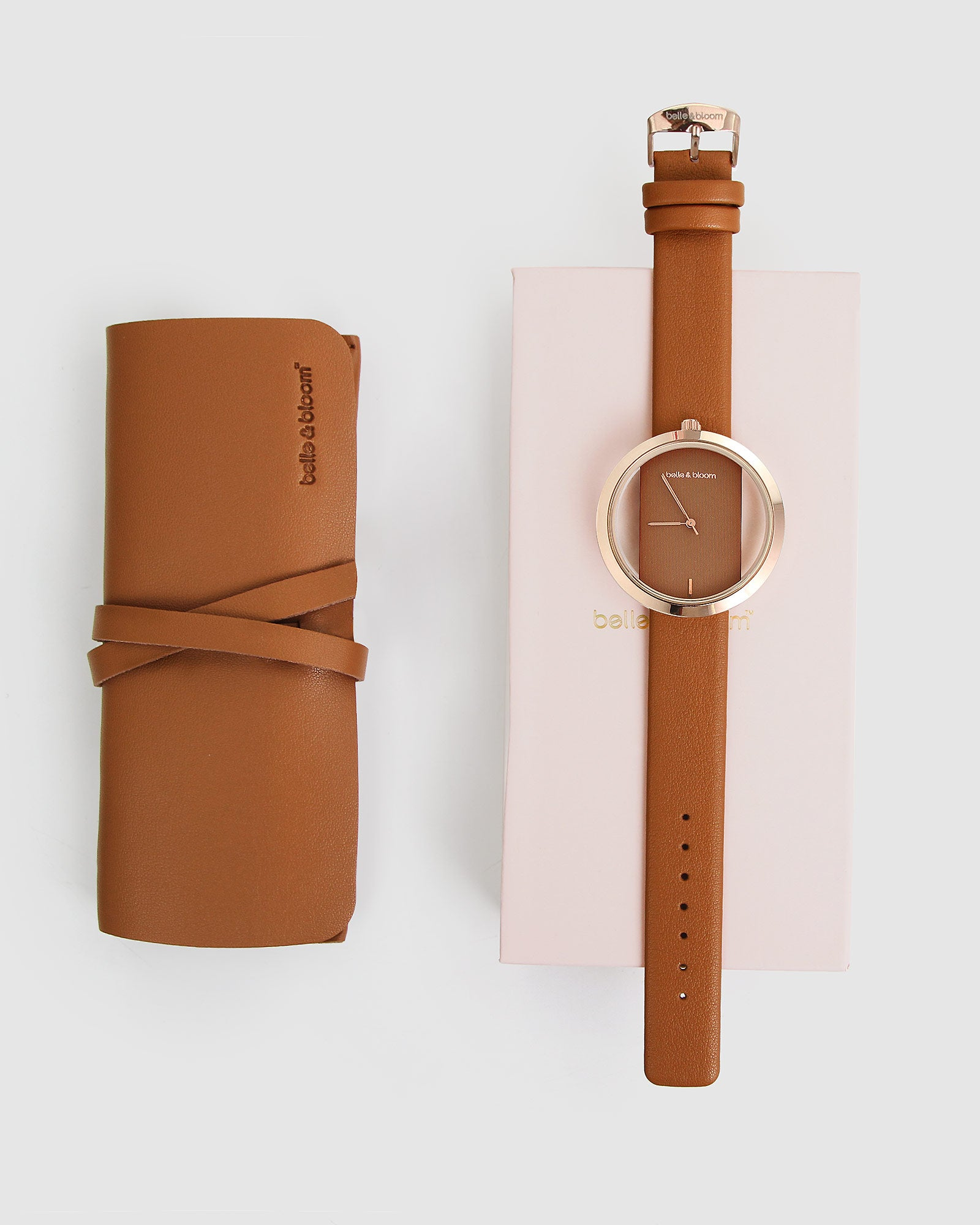 Barcelona Story Watch - Rose Gold / Tan
