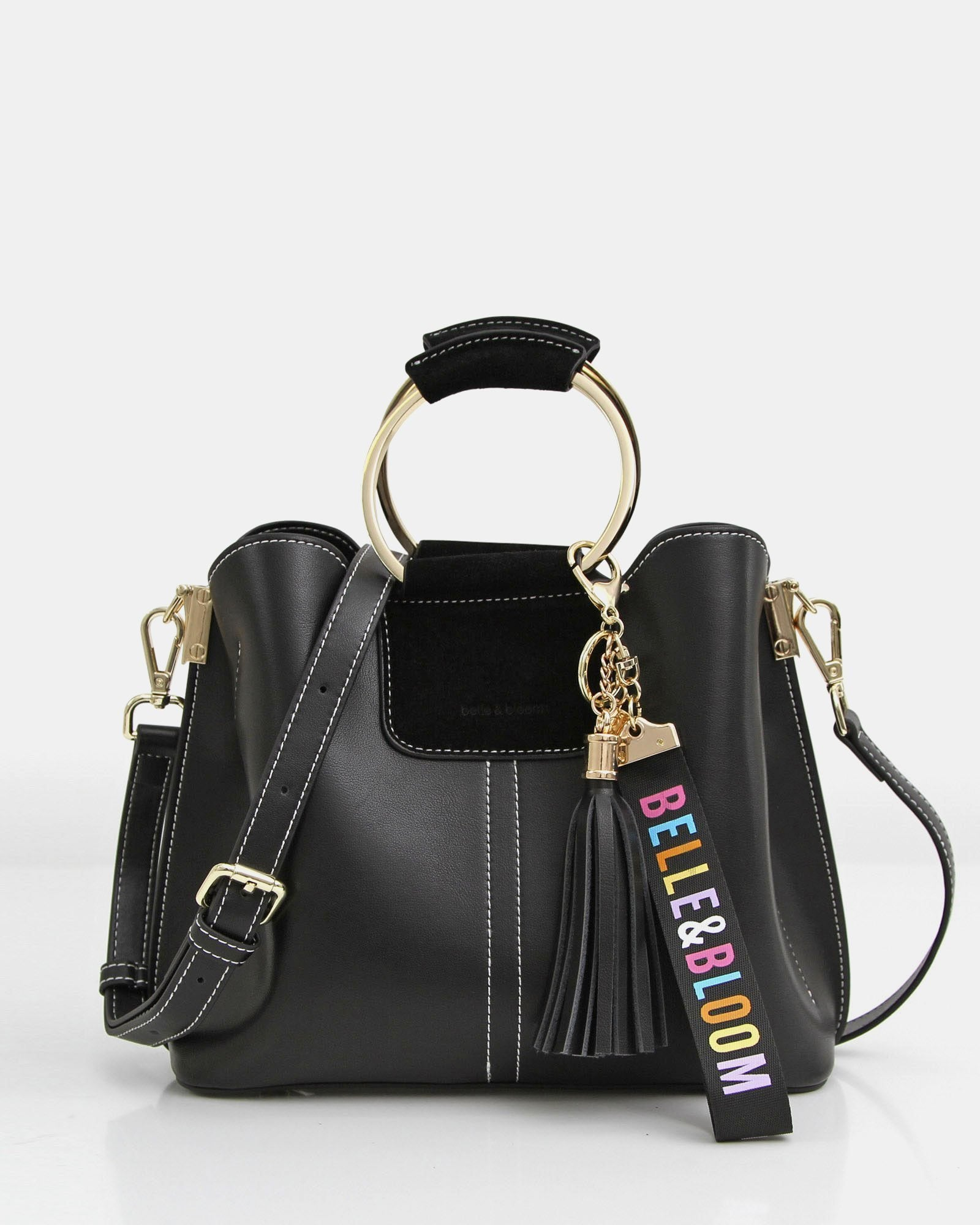 Twilight Leather Cross-Body Bag - Black
