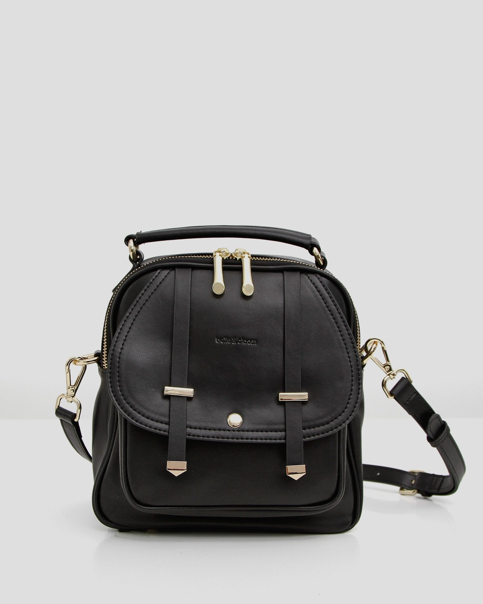 Camila Leather Backpack - Black