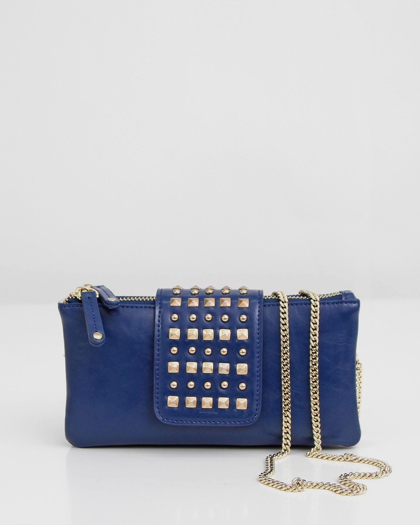 Loveland Leather Cross-Body Purse - Blue